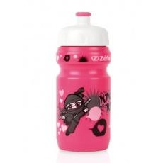 fľaša Zéfal detská LITTLE Z + držiak Ninja Girl ružová
