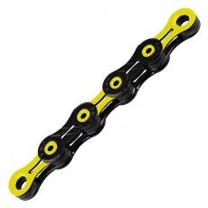 řetěz KMC DLC 11 žluto/černý v krabičce