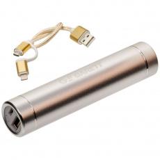 Powerbank 2600mAh micro USB / Lightning silver