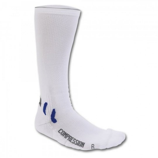 SOCK LONG COMPRESSION WHITE