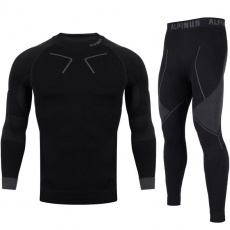 Alpinus Tactical Base Layer Set Thermoactive Underwear Black and Gray M GT43276