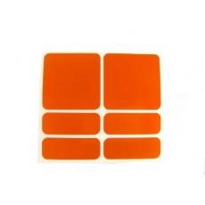 samolepky reflexné ShamanRacing set 6ks oranžové