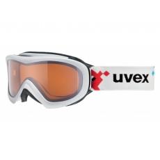 okuliare lyžiarske UVEX WIZZARD DL biele / pacman