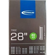 """duša SCHWALBE AV17 28 """"x1.10-1.75 (24 / 47-622) AV / 40mm"""