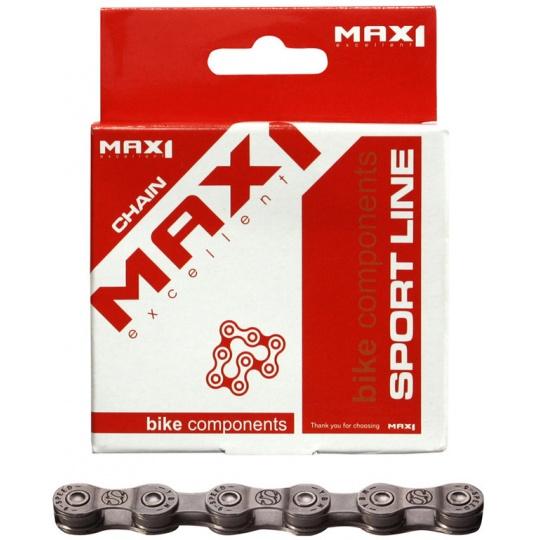 řetěz MAX1 9 speed, 116L, šedý, se spojkou