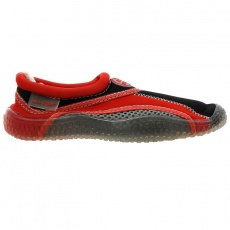 Aqua-Speed Jr. neoprene beach shoes red-gray
