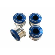 skrutky do prevodníka ShamanRacing 5mm, 4ks modré