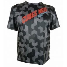 dres krátky pánsky HAVEN CUBES NEO čierno / červený