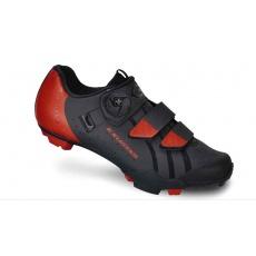 boty MTB EXUSTAR SM3010 černo-červené