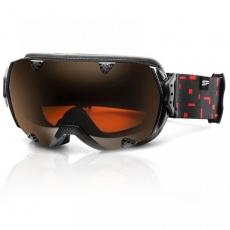 okuliare lyžiarske SPOKEY RED ROCK čierno / červené