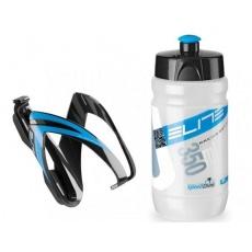 košík ELITE Kit Ceo černo-modrá + lahev Corsetta clear modro-bílá