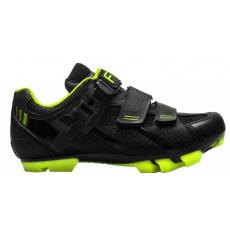 topánky FLR F-65 čierno / neon žlté