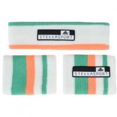 Adidas Women's Stellasport Headband Wristband Set biela One size