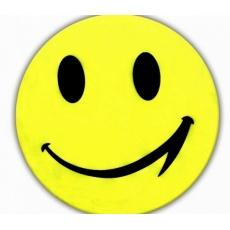samolepka reflexní smajlík žlutý