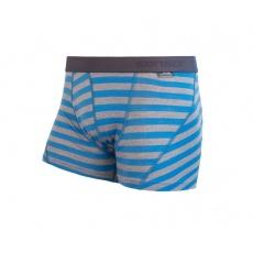 boxerky SENSOR MERINO ACTIVE modro / sivé pruhy