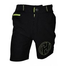 nohavice krátke detské HAVEN Teenage čierno / zelené