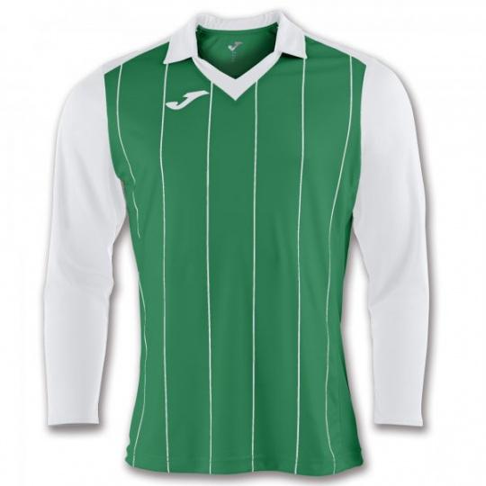 T-SHIRT GRADA GREEN-WHITE  L/S