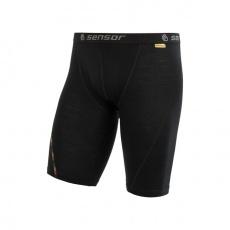 boxerky Sensor MERINO AIR dlhé čierne