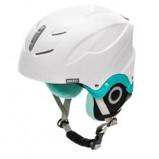 Meteor Lumi ski helmet white / mint 24858-24860