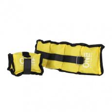 Záťaže na zápästie a členky ONE FITNESS WW01 2 x 0,7 kg žlté