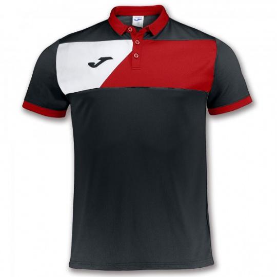 POLO SHIRT CREW II BLACK-RED S/S