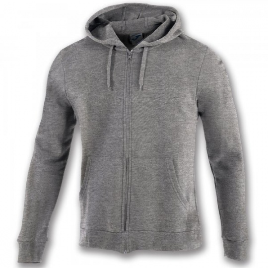 SWEATSHIRT WITH ZIP COMBI COTTON MELANGE