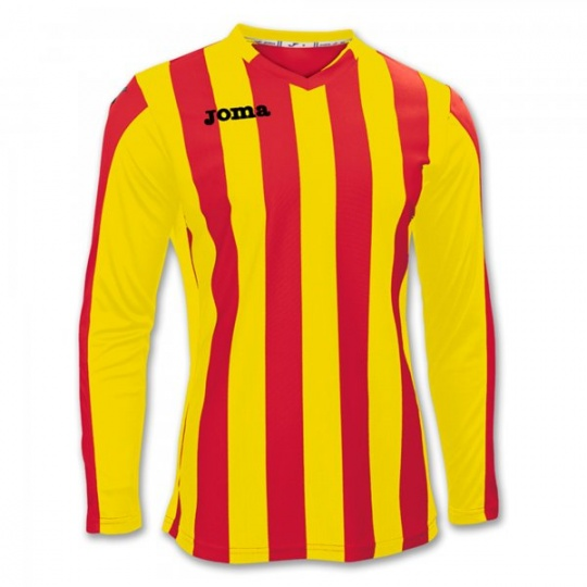 T-SHIRT COPA RED-YELLOW L/S