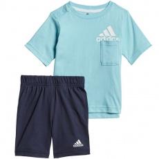 Set adidas Infants BOS Logo Summer Set Junior GM8943