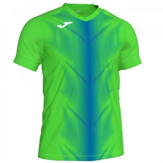 OLIMPIA T-SHIRT FLUOR GREEN-ROYAL S/S