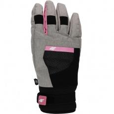 Ski gloves 4F W H4Z19 RED005 27M