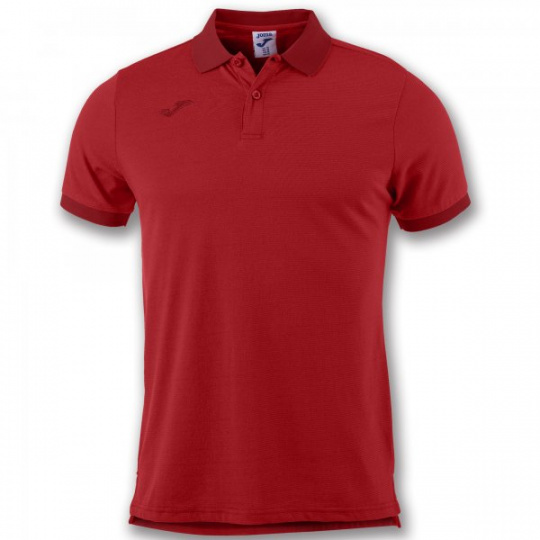 S/S POLO SHIRT COMBI VENICE WITH STRIPES RED