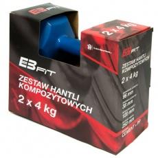 Composite dumbbell set EB FIT 2x4kg blue