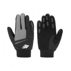4F H4Z20-REU063 gloves Gray melange