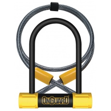 zámok OnGuard Bulldog podkova 90x140x13 mm + lanko 1200x10 mm