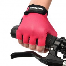 Cycling gloves Meteor Pink Jr 26196-26197-26198