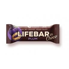 tyčinka Lifefood Lifebar InChoco slivka Bio Raw