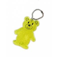 prívesok reflexná odrazka medvedík žltý