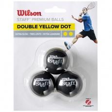 Squash balls Wilson Staff Premium Balls 3 pcs WRT618100