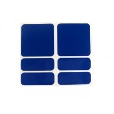 samolepky reflexné ShamanRacing set 6ks modré