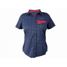 košeľa krátka dámska HAVEN Agness Slimfit modrá / ružová