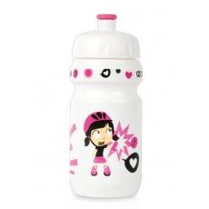 fľaša Zéfal detská LITTLE Z + držiak Girl biela