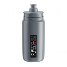 fľaša ELITE FLY 20 sivá / čierne logo 550 ml