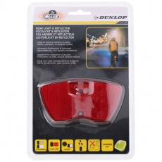 Dunlop rear light & reflector 3 led 76539 bicycle lamp