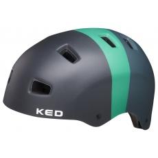 prilba KED 5Forty L black green matt 57-62 cm