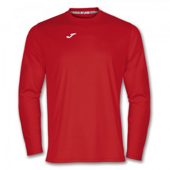 T-SHIRT COMBI RED L/S