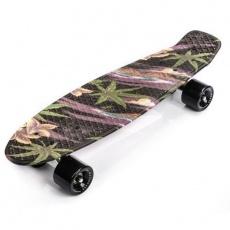 Meteor Flowers Black 22606 skateboard