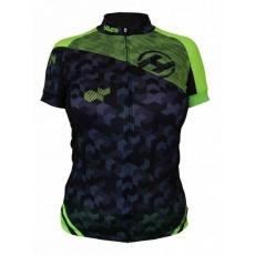 dres krátky dámsky HAVEN SINGLETRAIL čierno / zelený