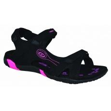 boty dámské LOAP CAFFA sandály černo/růžové