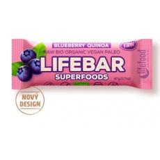 tyčinka Lifefood Lifebar Plus Bio Raw borůvková s quinoou