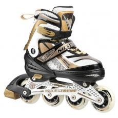 Detské kolieskové korčule NILS EXTREME NA 1123 A zlaté